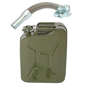 FCH Kanister 20L Benzinkanister mit Ausgießer, Metallkanister Metall Kraftstoffkanister 20 Liter