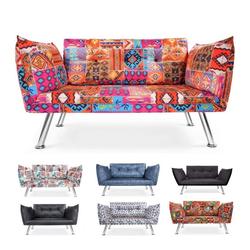 Easysitz 2-Sitzer Schlafsofa Zweisitzer Couch, Schlafsofa Zweisitzer Mehrere Farbvarianten bunt