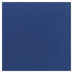 Duni Zelltuch Servietten 24x24 3lg 1/4 dunkelblau - 8x250 Stück