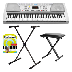 FunKey 61 Keyboard SET inkl. Keyboardständer+ Bank + Noten + CD