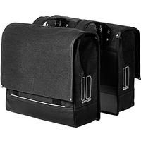 Basil Urban Fold Double Bag schwarz