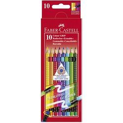 10 FABER-CASTELL Radierbare Grip Buntstifte farbsortiert