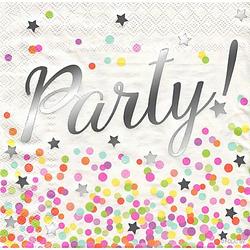 """Papierservietten """"Party!"""", metallic, 33 x 33 cm, 16 Stück"""