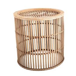 Cosy Home Ideas Beistelltisch Beistelltisch rund Bambus Geflecht natur (1 Stück, 1 Stück Beistelltisch), komplett aus Bambus gefertigt