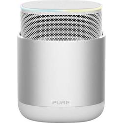 Pure DiscovR Sprachgesteuerter Lautsprecher Silber, Weiß