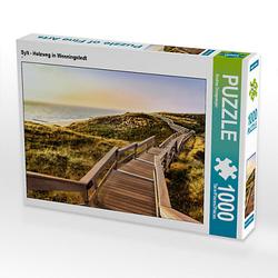 Sylt - Holzweg in Wenningstedt Lege-Größe 64 x 48 cm Foto-Puzzle Bild von Andrea Dreegmeyer Puzzle