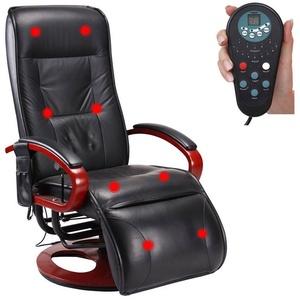 MCW Massagesessel Terni II, 8-Punkt Massage, 9 Massageprogramme, 3 Intensitätsstufen, Rücken und Beine separat ansteuerbar schwarz