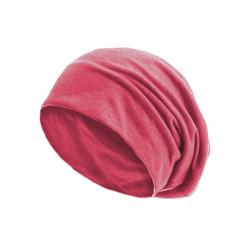 style3 Beanie (1-St) Beanie Mütze Unisex Damen Herren Haube Sommer slouch XXL Chemo Schlafmütze Cap rot