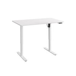 Balderia Schreibtisch, Schreibtisch - Elektrisch Verstellbarer Schreibtisch - Tisch für Heim & Büro - Höhe 62,5-128,5 cm - Fläche 120 x 60 cm, Weiß 120 cm x 62.50 cm - 128.5 cm x 65 cm