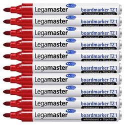 10 Legamaster TZ 1 Whiteboard-Marker rot 1,5 - 3,0 mm