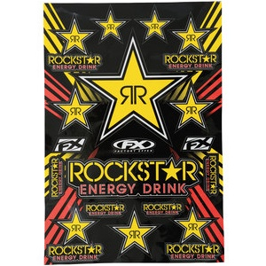 Rockstar Energy Aufkleber-Set Maße: 33x48,5cm