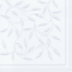"""Papstar Servietten, 1/4-Falz, 40 cm x 40 cm, """"ROYAL Collection"""", Motiv: """"New Mediterran"""", 1 Karton = 8 Packungen à 20 Stück, weiss"""