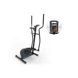 KLARFIT Crosstrainer Myon Cross Crosstrainer 12kg Schwungmasse SilentBelt System schwarz schwarz
