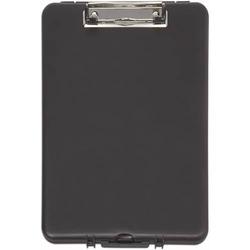 Schreibplatte mit Aufbewahrungsfach A4 schmal schwarz