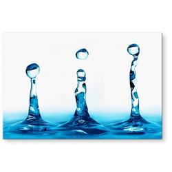 Küchenrückwand Spritzschutz Wasser Tropfen, (1-tlg) 60 cm x 40 cm x 0,4 cm