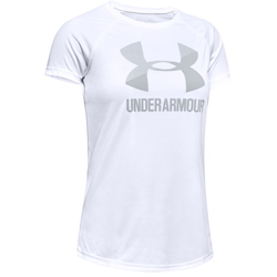 Under Armour Tech Big Logo Solid - T-Shirt - Kinder White