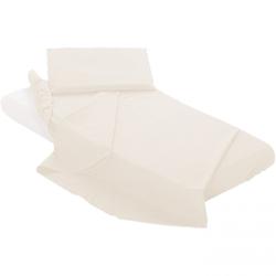 Blätter für Kinderbett Billo und Ball mit Ecken 3 Stück einfarbig weiß
