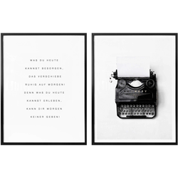 Poster »Was du heute kannst besorgen…« (Set), Bilder, 88485025-0 weiß 40x50 cm weiß