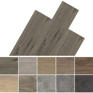 HORI® Klebe-Vinylboden PVC Bodenbelag I Wasserfest | Muster | Steinfliese Anthrazit | Münster