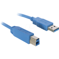 USB Kabel Typ A Stecker/USB-Micro B Stecker schwarz 1,8m