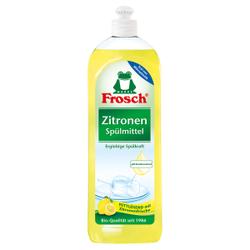 Frosch Zitronen Spülmittel , Fettlösende Reinigung für glänzend sauberes Geschirr, 750 ml - Flasche