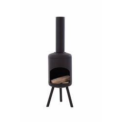Gartenkamin FUEGO, schwarz, Feuerstelle