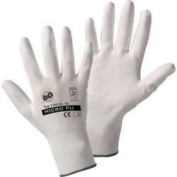 L+D Micro-PU knitted 1150 Nylon Arbeitshandschuh Größe (Handschuhe): 7, S EN 388 CAT II 1 Paar