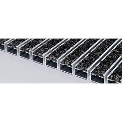 Fußmatte EMCO PREMIUM Eingangsmatte DIPLOMAT Outdoor anthrazit 22mm + ALU Rahmen Schmutzfangmatte Fußabtreter, Emco, Höhe 2.2 mm