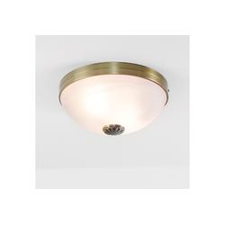 Licht-Erlebnisse Deckenleuchte ORCHIDEA Deckenleuchte Jugendstil Glas Bronze Weiß Esstisch Lampe