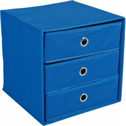 Home affaire Aufbewahrungsbox Willy, mit 3 Schubladen blau