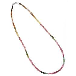 Adelia´s Kette ohne Anhänger Turmalin Stein Halskette - 925 Silber - 45 cm