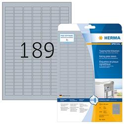 4.725 HERMA Typenschildetiketten 4220 silber