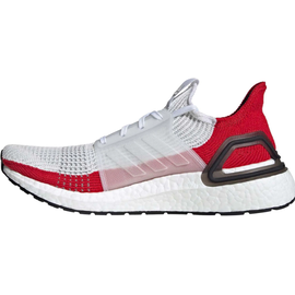 adidas Ultraboost 19 white-red/ white, 44.5
