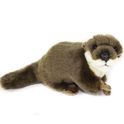 Teddys Rothenburg Kuscheltier Fischotter 26 cm dunkelbraun Stofftier Otter Plüschotter