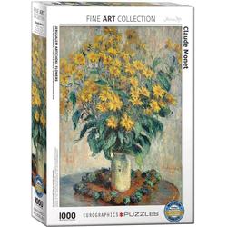 empireposter Puzzle Claude Monet - Jerusalem Artischocken Blumen - 1000 Teile Puzzle im Format 68x48 cm, Puzzleteile