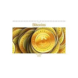 Bitcoins (Wandkalender 2021 DIN A4 quer) - Kalender