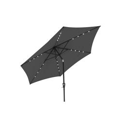 Kingsleeve Sonnenschirm, LED Beleuchtung grau