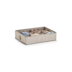 HTI-Living Aufbewahrungsbox Aufbewahrungsbox mit Unterteilung 12 Fächer (1 Stück), Aufbewahrungsbox grau