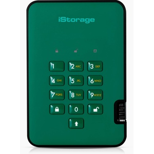 iStorage diskAshur2 HDD 500 GB Schwarz -  Sichere portable externe Festplatte - Passwortschutz, staub- und wasserbeständig, kompakt - Hardware-Verschlüsselung. USB 3.1 IS-DA2-256-500-GN