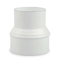 Ofenrohr Erweiterung Ø 120 mm > Ø 150 mm emailliert Weiß