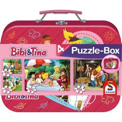 Bibi & Tina 2 x 100 2 x 150 Puzzle Teile im Metallkoffer