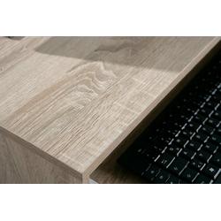 ebuy24 Schreibtisch Dusa Schreibtisch 1 Ablage, 1 Tastaturauszug, Sono