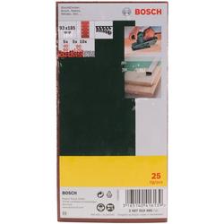 BOSCH Schleifpapier 25-teiliges Schleifblatt-Set für Schwingschleifer, Körnung 40, 60, 80, 120