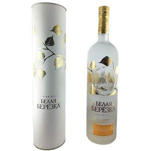 Vodka White Birch Gold Geschenkset 1L russischer Premium Wodka mit Birkensaft
