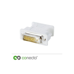 conecto Analoger Monitoradapter DVI-D-Stecker VGA-Kupplung Video-Adapter