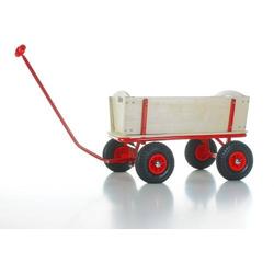 Bollerwagen m. Bremse + PU-Reifen