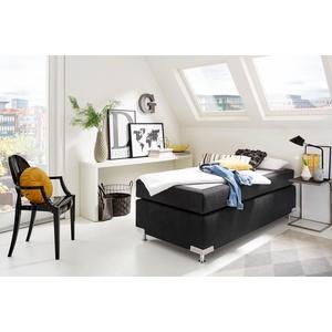 Westfalia Schlafkomfort Boxspringbett Holland, ohne Kopfteil, frei im Raum stellbar schwarz Doppelbetten Betten