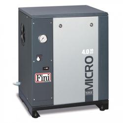 FINI Schraubenkompressor MICRO SE 4.0-10 (IE3), mit Rippenbandriemenantrieb , Liefermenge 485 L/min.. Schalldruckpegel 60 dB(A)