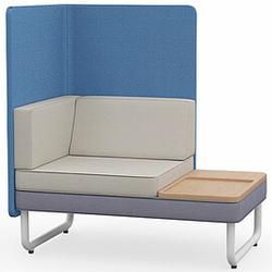 PLAY&WORK 1.5-Sitzer Sofa mit Ablagetisch, hohe Rückwand