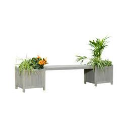 Banc de jardin Banc de parc 180cm banc en bois avec boîte à fleurs banc en bois 2 places - Melko